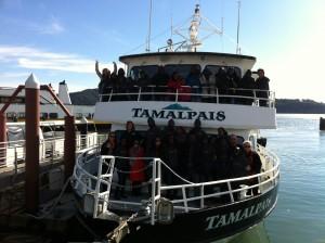 The Spirit of Uganda Dance Troop enjoys a ride on SF Bay with Captain Maggie & her family and Crew