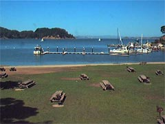 View of Ayala Cove from Angel Island Webcam