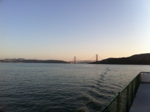 """Get that getaway feeling without going away"" with an Angel Island Ferry Sunset Cruise"
