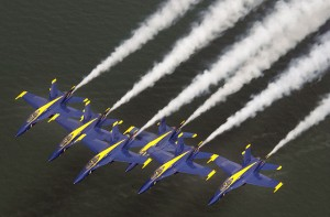 Get top of the world views of the Blue Angels in flight rom Angel Island's Mt. Livermore.