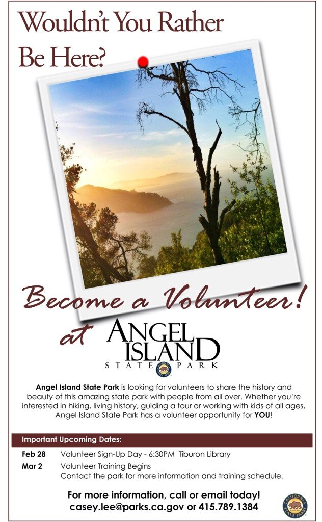 Volunteer at Angel Island Poster
