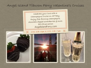 Angel Island Tiburon Ferry 2014 San Francisco Valentine's Cruise with unlimited Champagne
