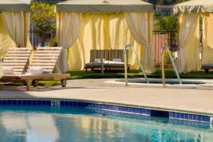 Relaxing pool scene at the Lodge at Tiburon