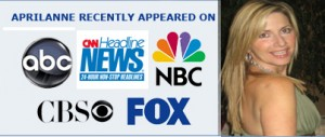 TV Networks appearances for Aprilanne Hurley author of The Party Girl Diet Book Series