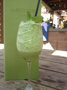 "Party Girl Diet author Aprilanne Hurley shares her ""skinny makeover"" for the Modern Honolulu's Blended Coconut Mojito."