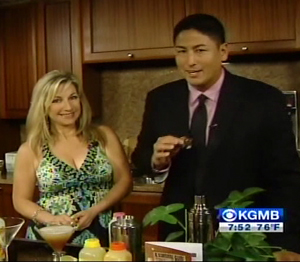 Hawaii News Now Sunrise Host Steve Uyehara with Part Girl Diet Author Aprilanne Hurley