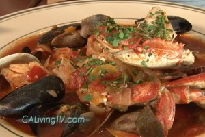 California Living TV host Aprilanne Hurley spotlights Sam's Anchor Cafe Cioppino