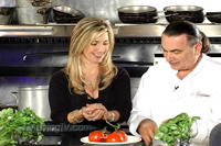California Living® host Aprilanne Hurley is on location in Sonoma County, California making meatballs with Executive Chef Graziano Perozzi.